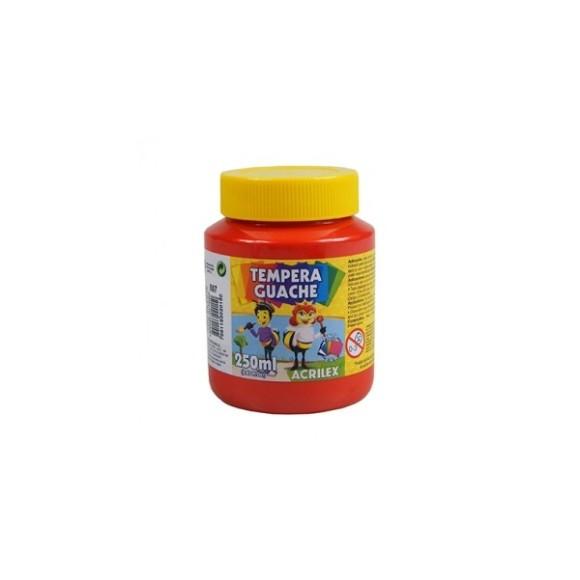 TINTA GUACHE VERMELHO FOGO - 250ML - ACRILEX